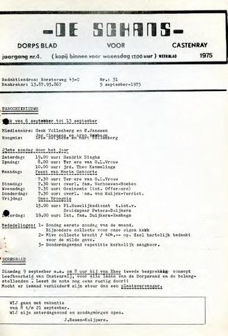 Castenrays dorpsblad De Schans 1975-09-05