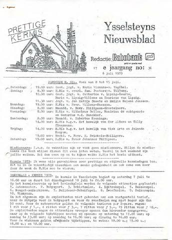Ysselsteyns Nieuwsblad 1979-07-06