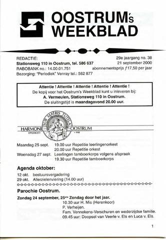 Oostrum's Weekblad 2000-09-21