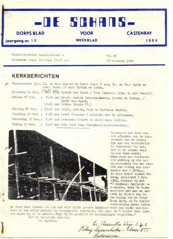 Castenrays dorpsblad De Schans 1984-11-23