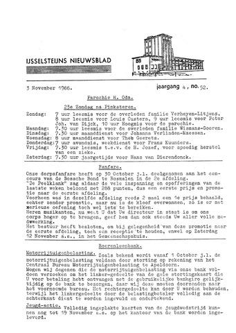 Ysselsteyns Nieuwsblad 1966-11-03