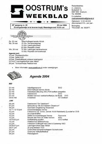 Oostrum's Weekblad 2004-05-20