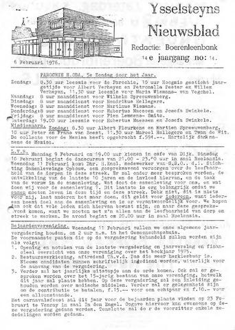 Ysselsteyns Nieuwsblad 1976-02-06