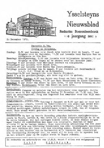 Ysselsteyns Nieuwsblad 1972-12-29