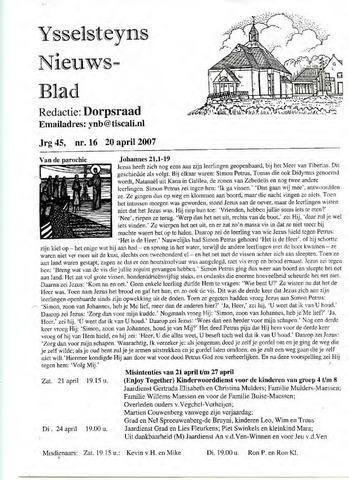 Ysselsteyns Nieuwsblad 2007-04-20