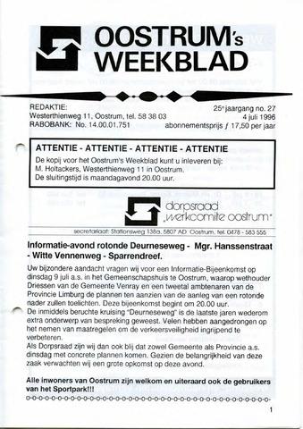 Oostrum's Weekblad 1996-07-04