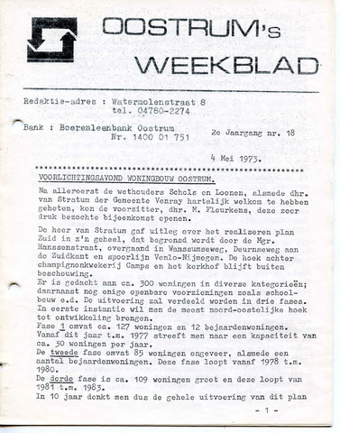 Oostrum's Weekblad 1973-05-04