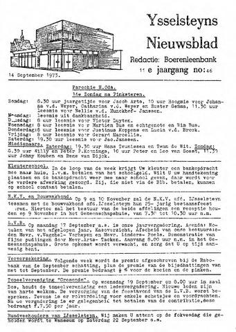 Ysselsteyns Nieuwsblad 1973-09-14