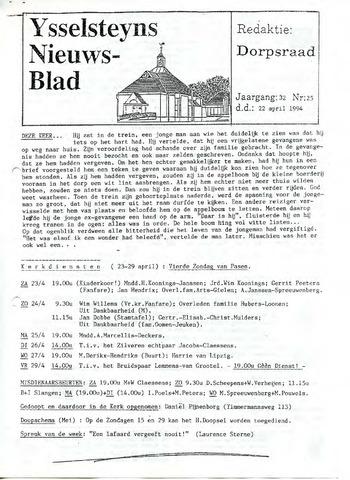 Ysselsteyns Nieuwsblad 1994-04-22