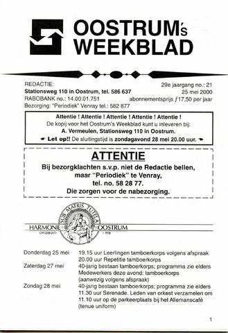 Oostrum's Weekblad 2000-05-25