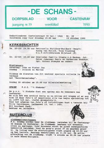 Castenrays dorpsblad De Schans 1990-10-19