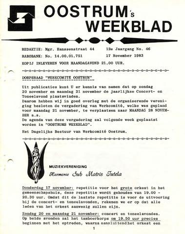 Oostrum's Weekblad 1983-11-17