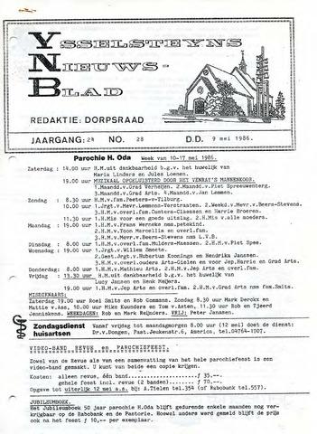 Ysselsteyns Nieuwsblad 1986-05-09