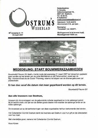 Oostrum's Weekblad 2007-03-15