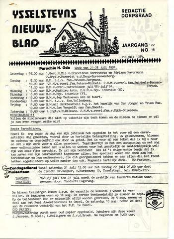 Ysselsteyns Nieuwsblad 1984-07-20