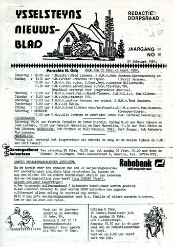 Ysselsteyns Nieuwsblad 1984-02-24