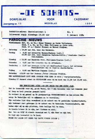 Castenrays dorpsblad De Schans 1984-01-06