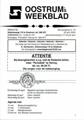 Oostrum's Weekblad 2000-04-20