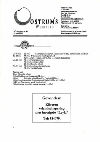 Oostrum's Weekblad 2006-05-25