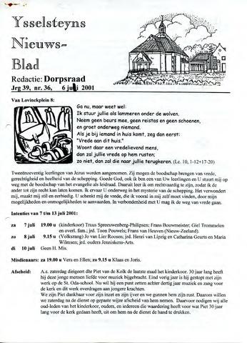 Ysselsteyns Nieuwsblad 2001-07-06