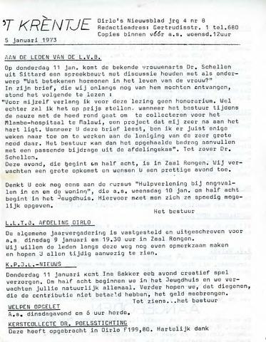 Oirlo's dorpsblad 't Krèntje 1973