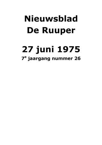 Dorpsblad Leunen-Veulen-Heide 1975-06-27