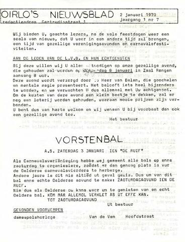 Oirlo's dorpsblad 't Krèntje 1970-01-02