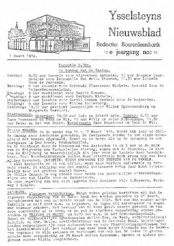 Ysselsteyns Nieuwsblad 1974-03-01