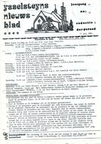 Ysselsteyns Nieuwsblad 1982-06-11