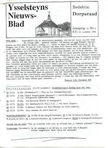 Ysselsteyns Nieuwsblad 1994-11-11
