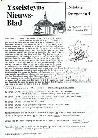 Ysselsteyns Nieuwsblad 1994-12-09