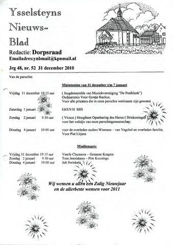 Ysselsteyns Nieuwsblad 2010-12-31