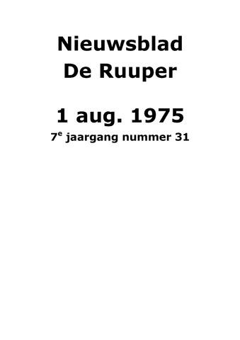 Dorpsblad Leunen-Veulen-Heide 1975-08-01