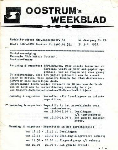 Oostrum's Weekblad 1975-07-31
