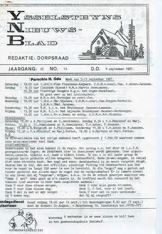 Ysselsteyns Nieuwsblad 1987-09-04