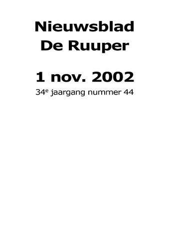 Dorpsblad Leunen-Veulen-Heide 2002-11-01