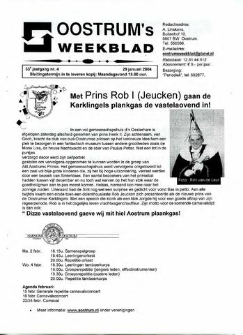 Oostrum's Weekblad 2004-01-29