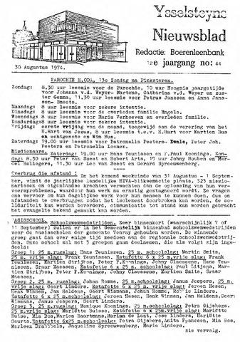 Ysselsteyns Nieuwsblad 1974-08-30