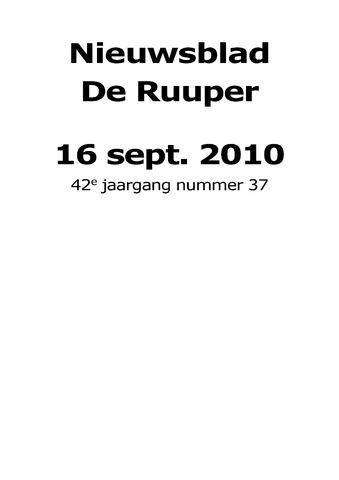 Dorpsblad Leunen-Veulen-Heide 2010-09-16
