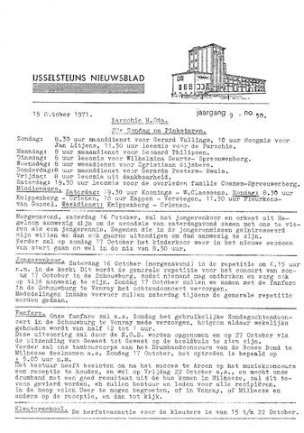 Ysselsteyns Nieuwsblad 1971-10-15