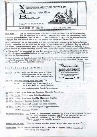 Ysselsteyns Nieuwsblad 1989-06-23