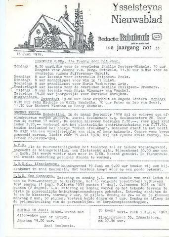 Ysselsteyns Nieuwsblad 1978-06-16