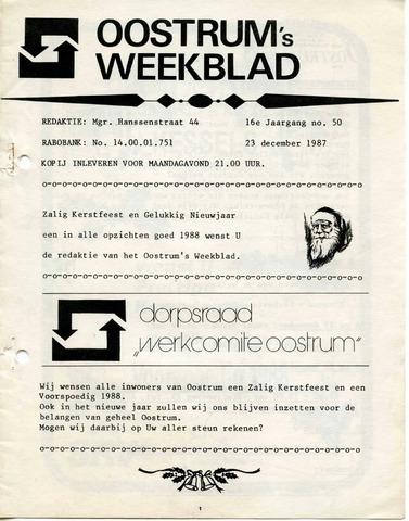 Oostrum's Weekblad 1987-12-23