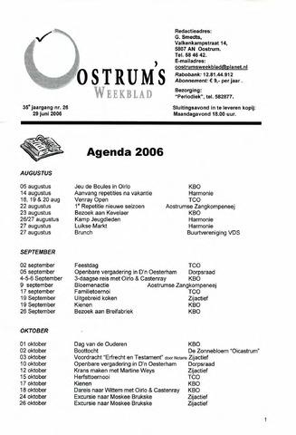 Oostrum's Weekblad 2006-06-29