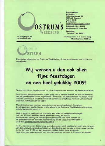 Oostrum's Weekblad 2008-12-24