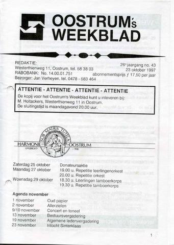 Oostrum's Weekblad 1997-10-23