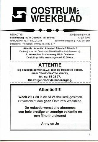 Oostrum's Weekblad 2000-07-13