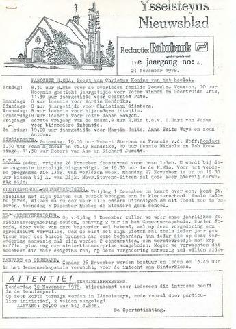 Ysselsteyns Nieuwsblad 1978-11-24