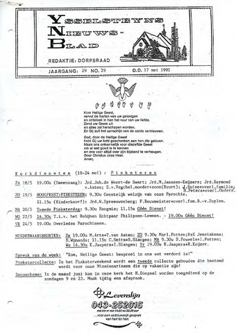 Ysselsteyns Nieuwsblad 1991-05-17