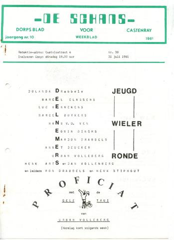 Castenrays dorpsblad De Schans 1981-07-31